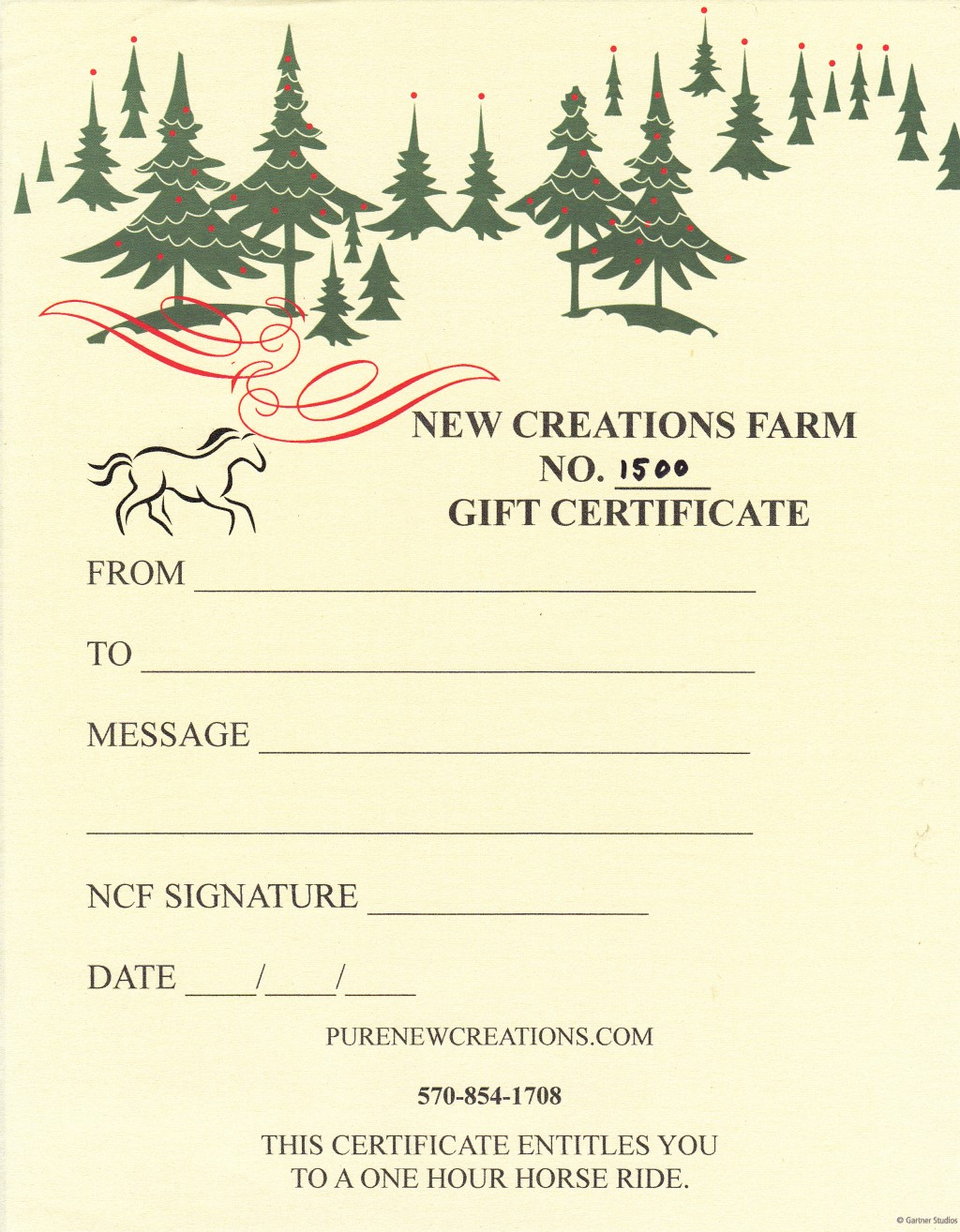 NCF Gift Certificate