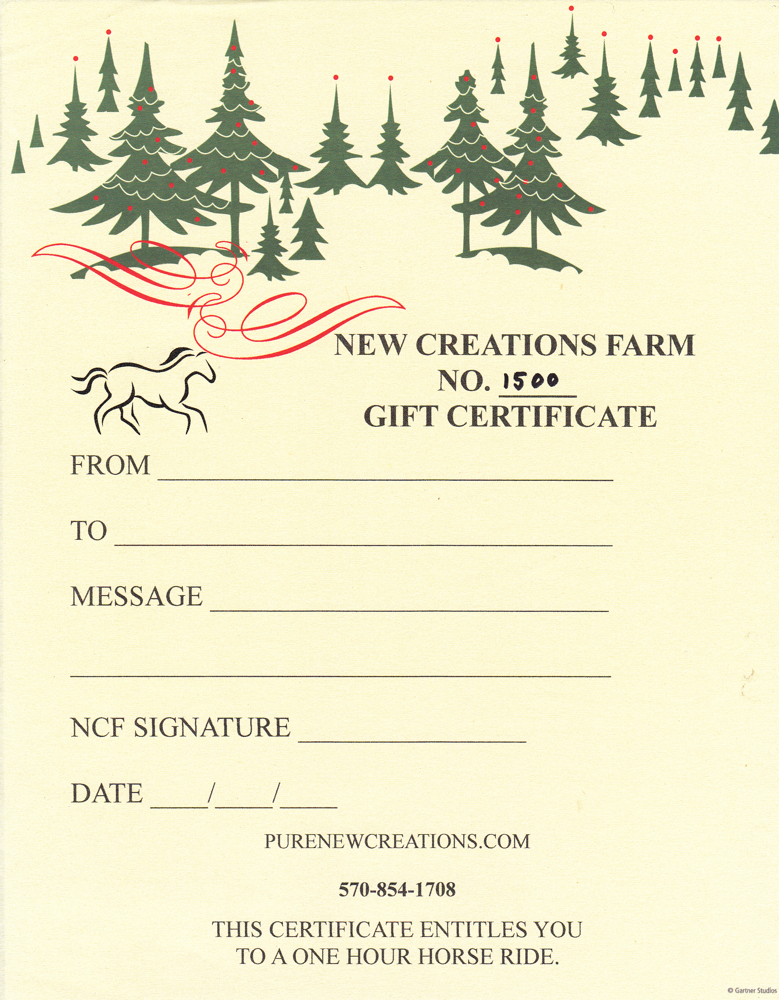 Gift certificates archives new creations farm ncf gift certificate yadclub Choice Image